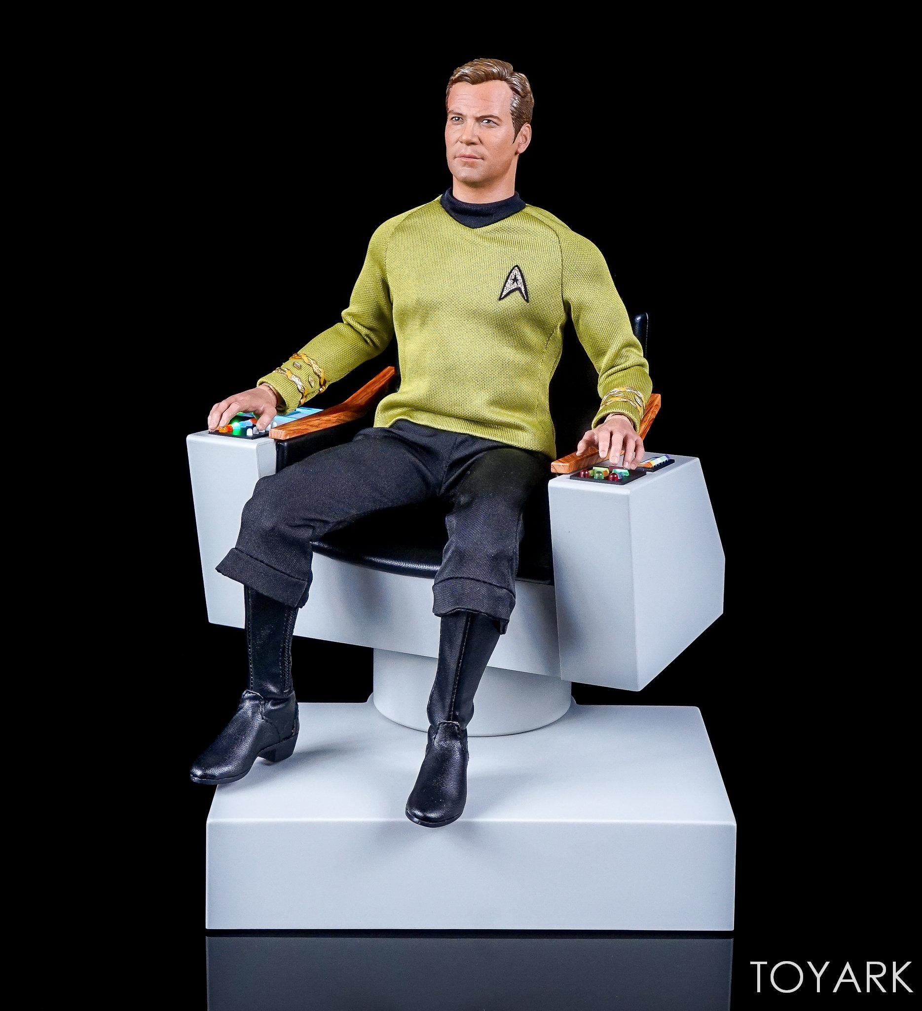 star trek captains chair camo office qmx the original series 1 6 scale captain 39s