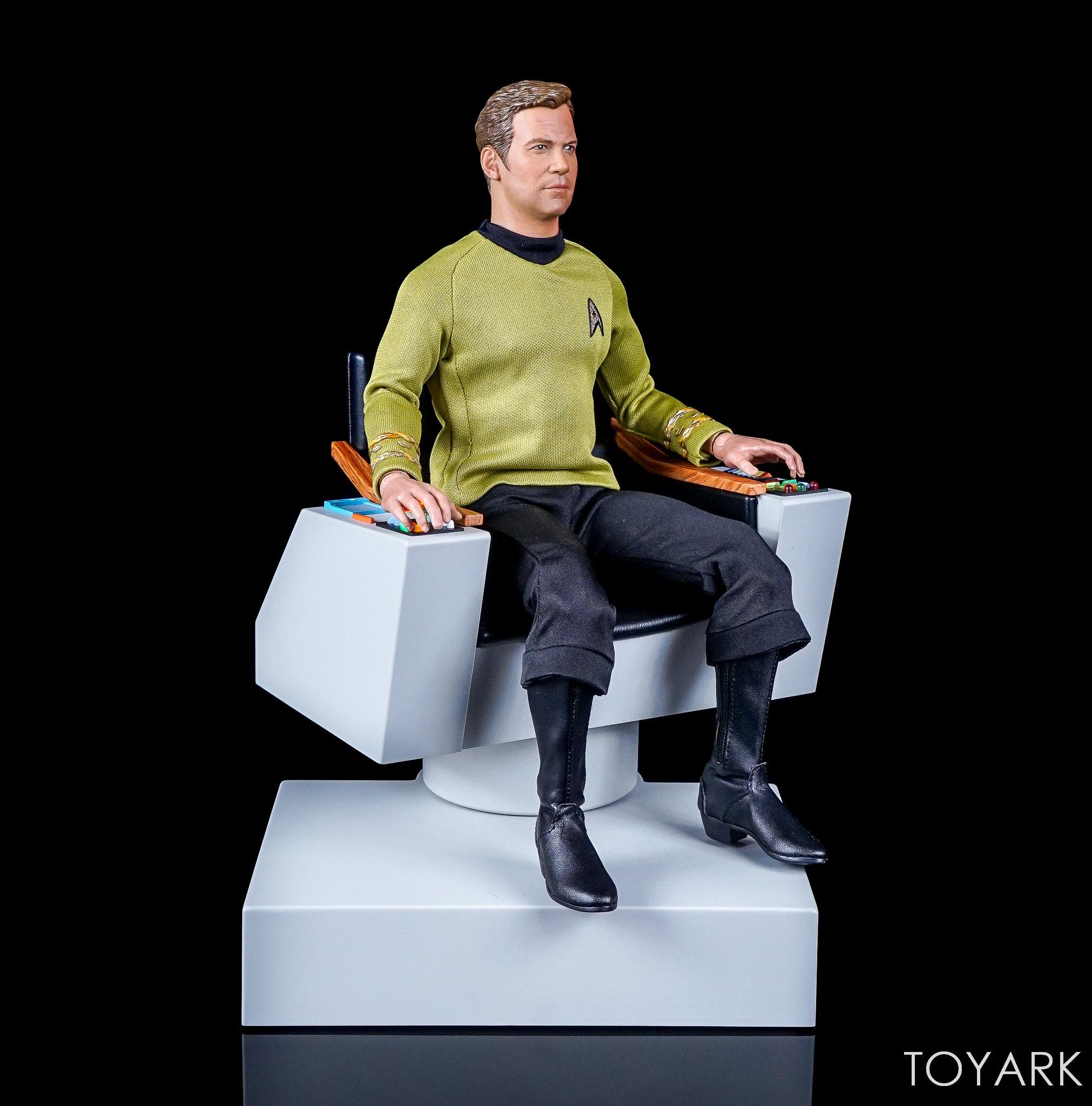 star trek captains chair armless task qmx the original series 1 6 scale captain 39s