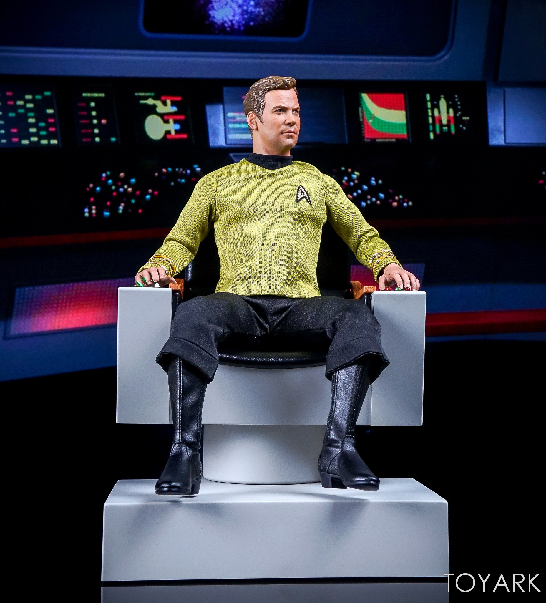 star trek captains chair covers for toddlers qmx the original series 1 6 scale