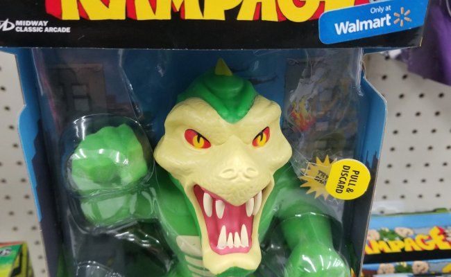 Walmart Exclusive Rampage Video Game Stretchy Figures
