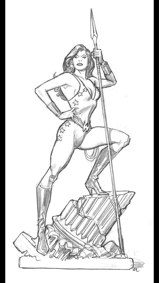 Tweeterhead Teen Titans Wonder Girl DC Super Powers Statue