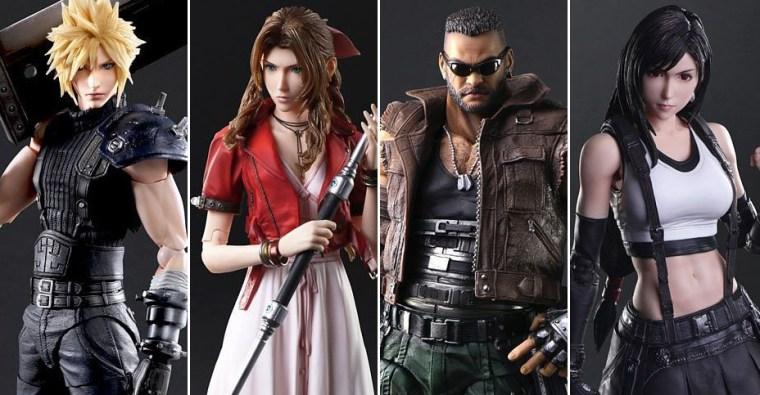 Play Arts Kai Final Fantasy VII Remake - Cloud, Aerith, Barret ...