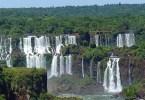 بانوراما لشلالات اجوازو ـ الأرجنتين والبرازيل
