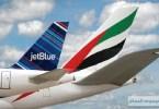 """توسيع شراكة """"طيران الإمارات"""" و""""خطوط جت بلو"""" بتبادل الرموز"""