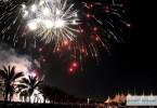 الألعاب النارية في سماء مدينة الرياض
