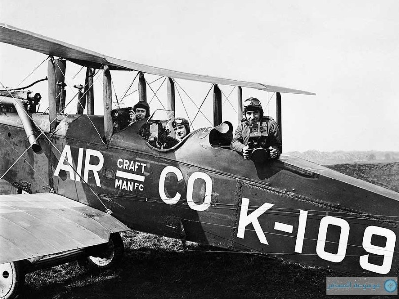 فرانسيس لويس ويلز، جيري شو وكلود فرييز-غرين على طائرة  DH9B، يوليو 1919.