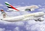 طيران الامارات والاتحاد للطيران