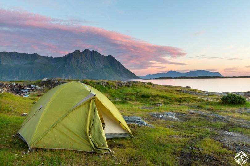التخييم في النرويج