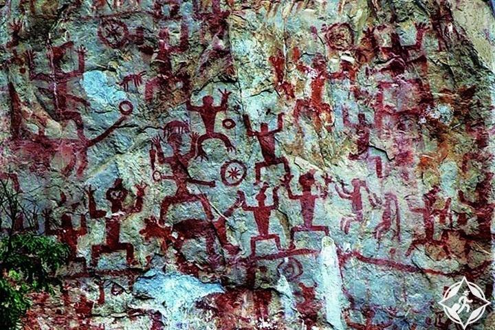 زوجيانغ هواشان الفن الصخري