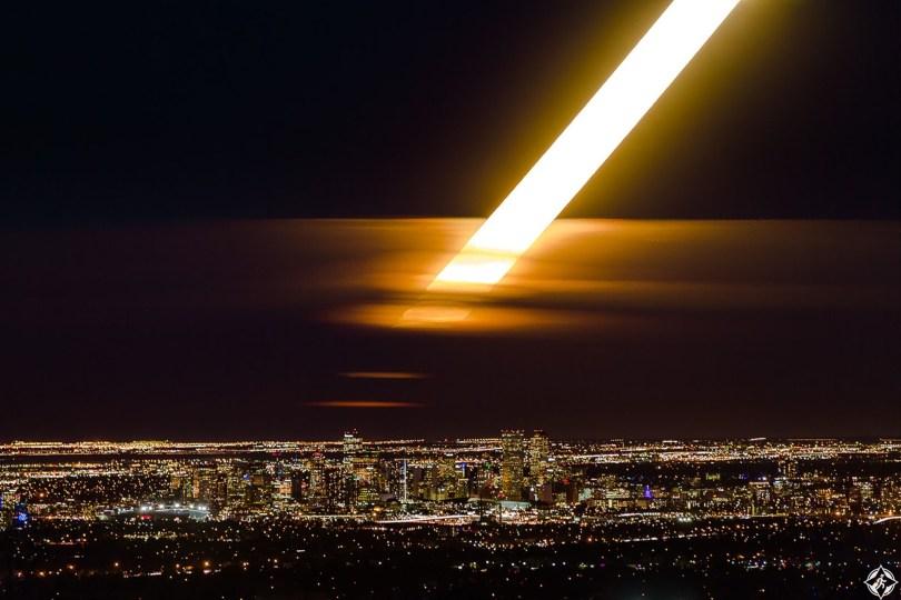 كولورادو-دنفر-القمر العملاق-أجمل صور الفضاء