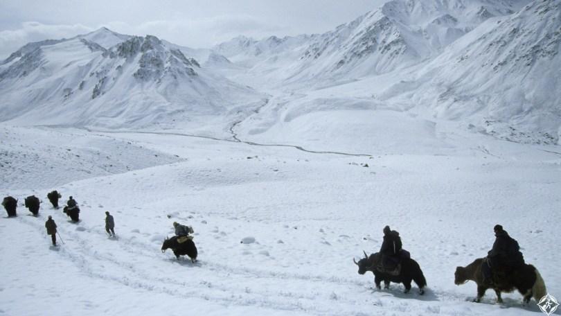أفغانستان-بامير-الكبير¬-وادي-شيكارجا-ثلوج-منتصف-الشتاء