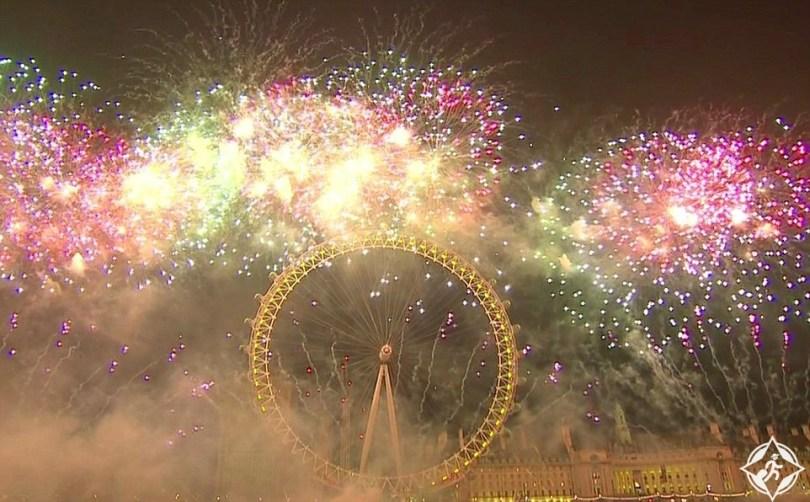 بريطانيا-لندن-الالعاب-النارية-وعين-لندن-العام-الجديد-2017