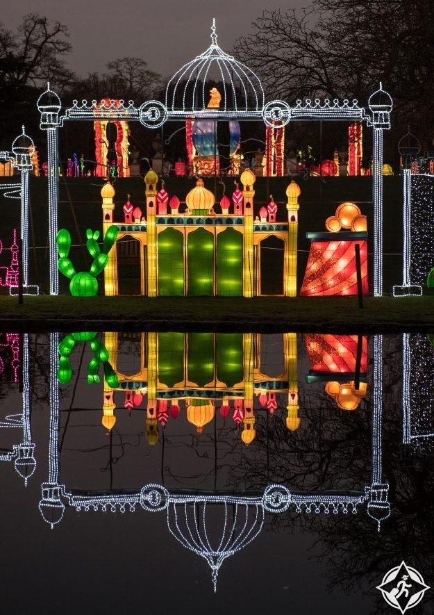 بريطانيا-لندن-حدائق تشيسوك-مهرجان المصابيح السحرية 6