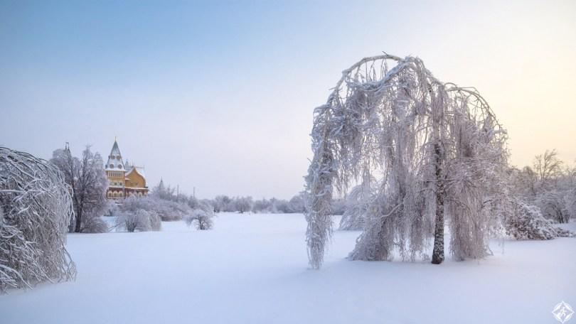 روسيا-موسكو-كولومينسكوي-ثلوج-منتصف-الشتاء