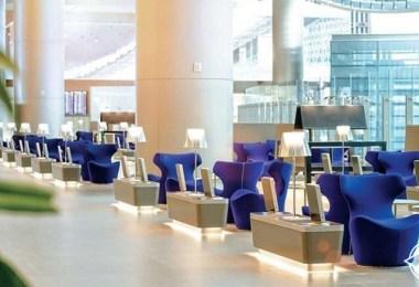 صالة المرجان للخطوط الجوية القطرية مطار حمد الدولي