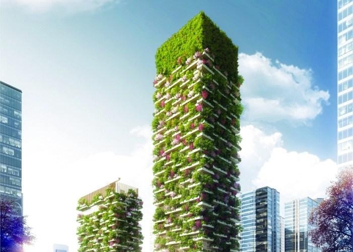 مشروع برجي الغابة العمودية في الصين