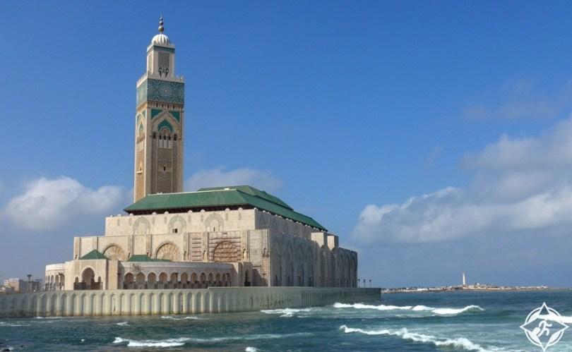 المعالم السياحية في الدار البيضاء - مسجد الحسن الثاني