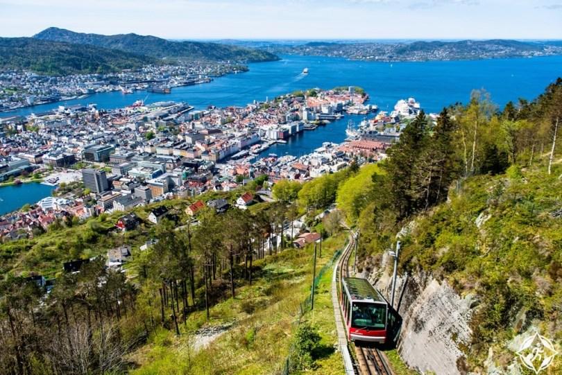 بيرغن - قطار فلوبيبانين الجبلي المائل