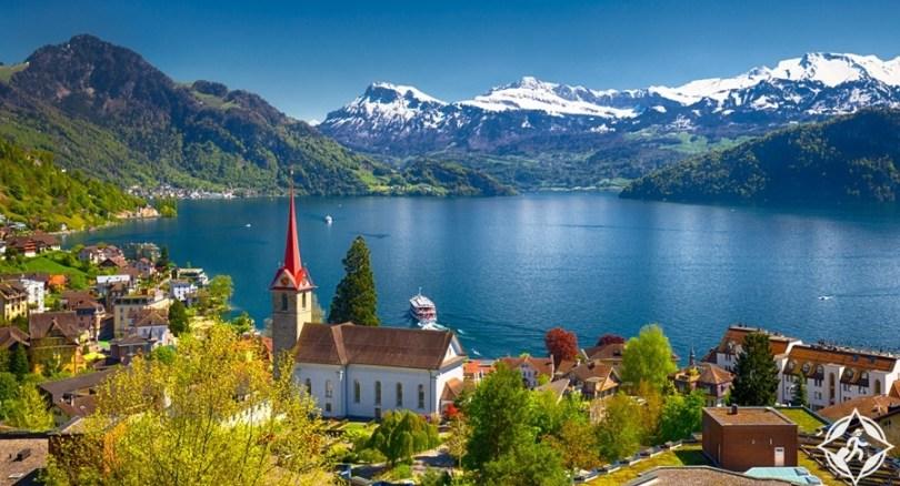 البحيرات في سويسرا - بحيرة لوسيرن