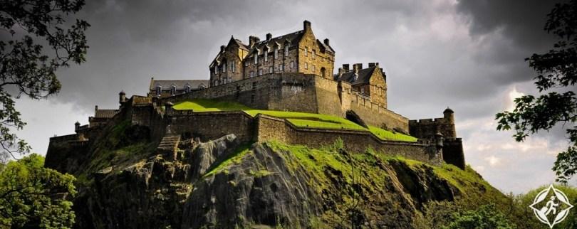 القلاع في اسكتلندا - قلعة ادنبره
