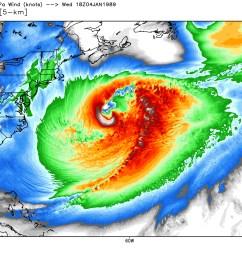 model depiction of the erica iop 4 storm over atlantic january 1989 [ 1600 x 1200 Pixel ]