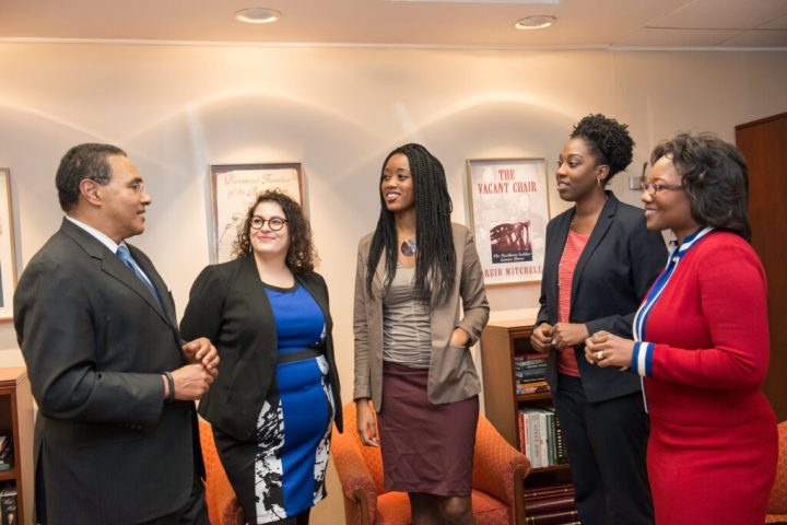 Dr. Hrabowski meets with Postdoc Fellows for Faculty Diversity