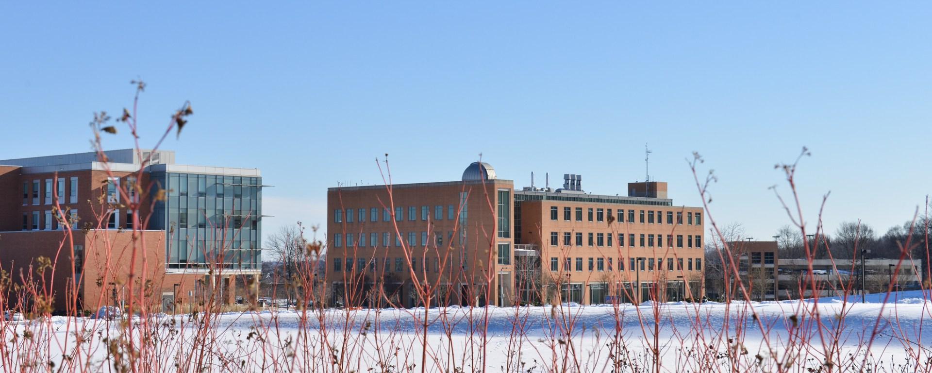 Snowy day at UMBC