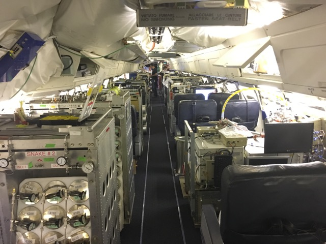 inside a research aircraft