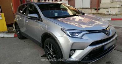 Toyota RAV 4 căutat de autorităţile din Spania, descoperit în PTF Sculeni