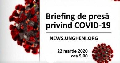 Briefing de presă privind COVID-19 din 30 martie 2020