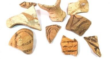 Ceramică din așezarea cucuteniană de malul iazului Condrătești, lângă satul Drujba