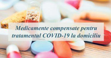 Medicamentele pentru tratamentul COVID-19 la domiciliu – compensate integral