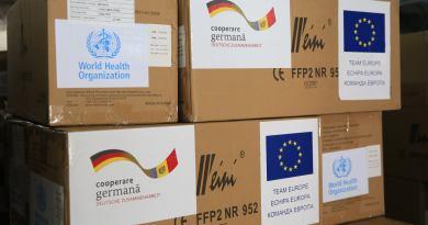OMS, Germania și UE au donat încă 1.6 milioane de mănuși medicale și 300 000 de măști FFP2