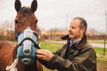 Laurent Couëtil and horse