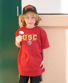 Cooper Roth childhood photo, always part of the USC family.