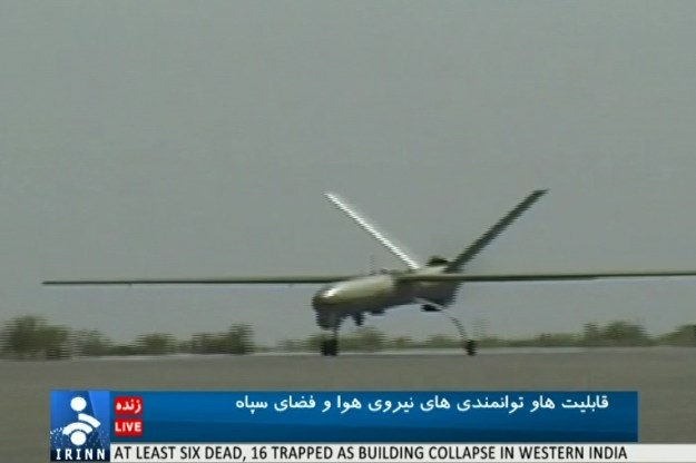 Images from Iranian television of the Shahed-129.