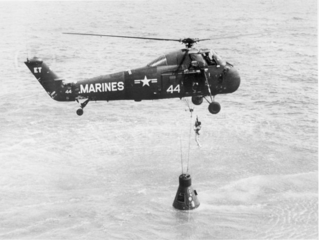 Alan Shepard, the first American in space, is recovered from the South Atlantic in 1961. US Naval Institute Archives