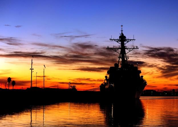 USS Spruance (DDG-111) is pierside at Naval Weapons Station Seal Beach, Calif., Jan, 2012. US Navy Photo