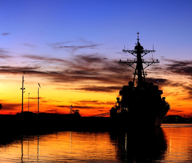 Uss Spruance Ddg 111 Is Pierside At Naval Weapons Station Seal Beach
