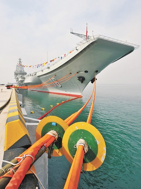 Chinese Carrier Leaves for More Sea Trials