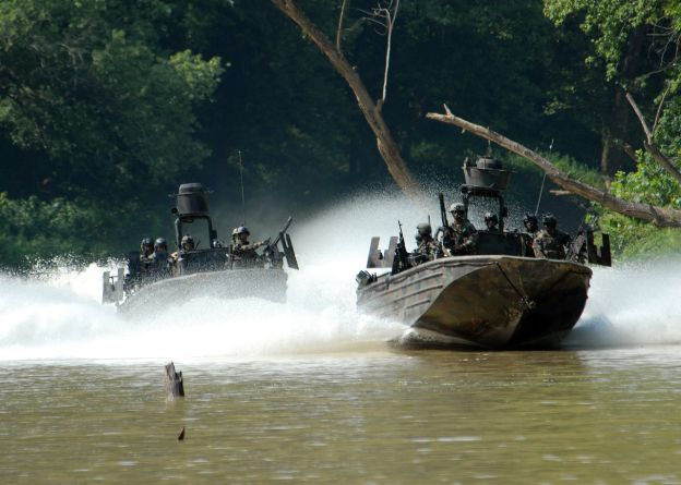 Navy Special Warfare Combatant-craft Crewmen in a 2009 exercise. US Navy Photo