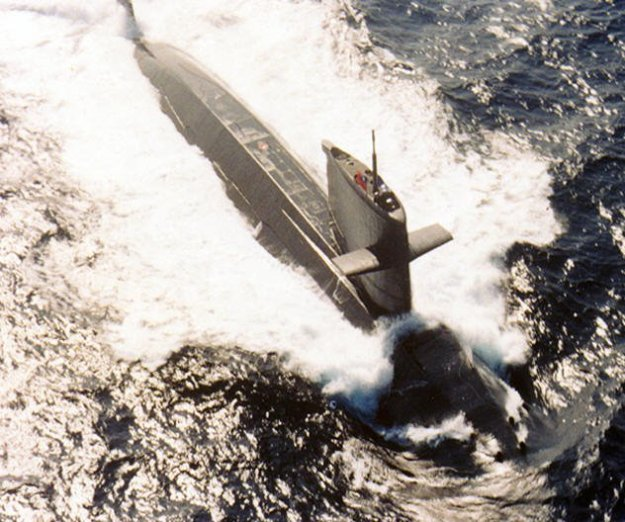 A 1980s vintage Hai-lang submarine, built in the Netherlands and operated by the Republic of China Navy. ROC Photo