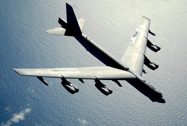 A U.S. B-52 Stratofortress strategic bomber. Press reports claim two of the planes flew from Guam into an Air Defense Zone China established over the weekend. US Air Force Photo