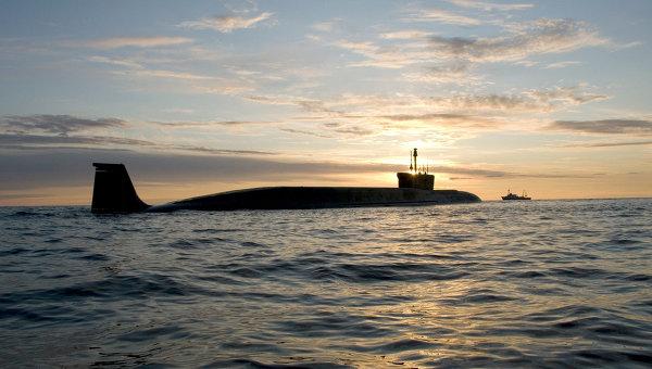 Borey-class nuclear ballistic missile submarine (SSBN).