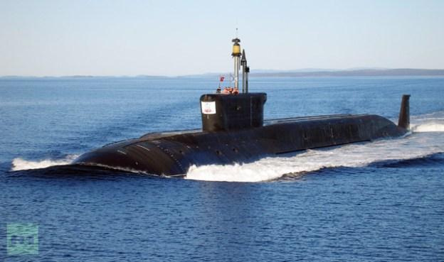 Russian Borey-class (Project 955) ballistic nuclear missile submarine Yuri Dolgoruky during sea trials. RIA Novosti Photo
