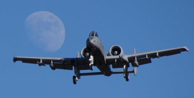 An A-10 returning from a training mission on Jan. 11, 2014. US Air Force Photo