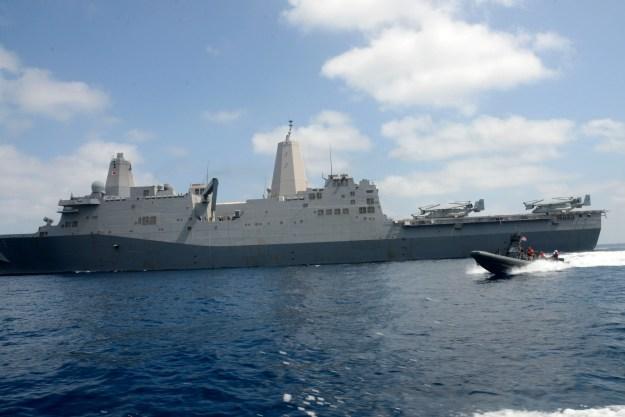 USS Mesa Verde (LPD-19) in 2014. US Navy Photo