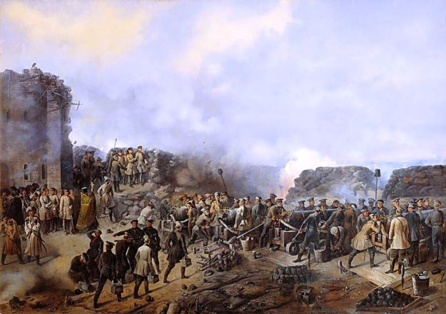 The 1856 painting'Siege of Sevastopol by Grigoryi Shukaev.