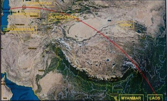 The Northern Corridor of the Flight 370 search effort. Xinhua Photo