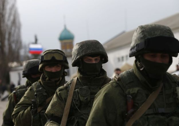 Russian troops in the Crimea region of Ukraine. Reuters Photo